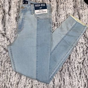 High rise duo color hollister jeans